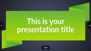 Green Ribbon PowerPoint Template