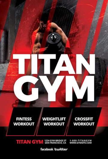 Titan Workout Flyer Template