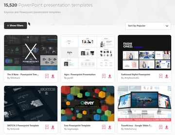 Premade PowerPoint Templates from Envato Elements