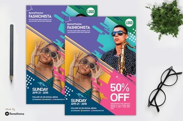 Modern Flyer Design With Vibrant Colors