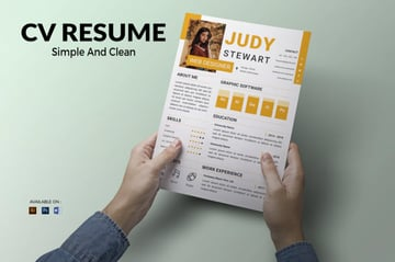 Infographic Resume Template Colorful