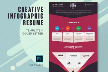 Infographic Resume Template for Envato Elements