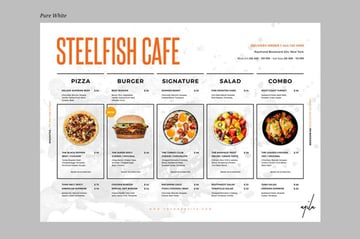 Premium Restaurant Menu Template