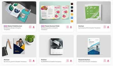 Premium creative brochure templates on Envato Elements