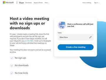 Skype Free Webinar