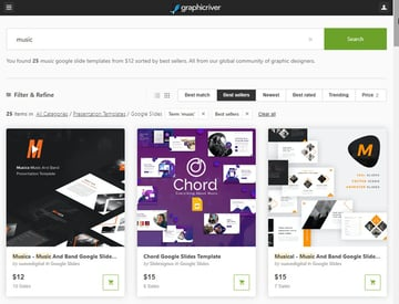 Music Slideshow Google Slides Themes