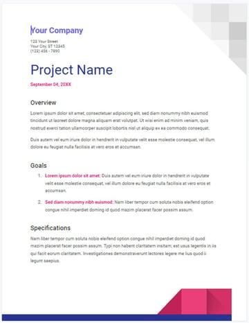 Geometric Project Proposal Template