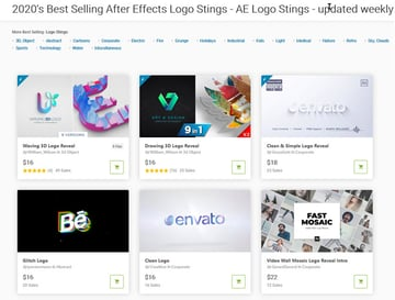mejores plantillas para animacin de logos en After Effects que actualmente son tendencia en VideoHive 2020