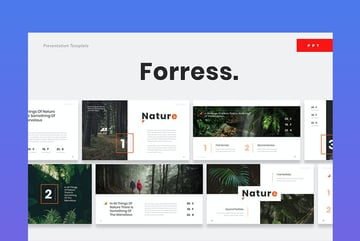 Foress PowerPoint Template Nature