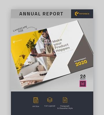 Nonprofit Annual Report Template in Landscape