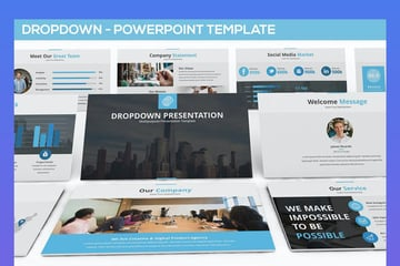 Dropdown Powerpoint Presentation Template