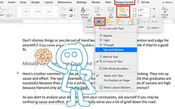 How to Draw in Word - Wrap text