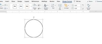 Draw in Microsoft Word - Shape fill