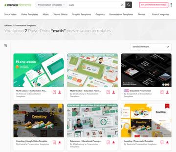Best selling math presentations Envato Elements