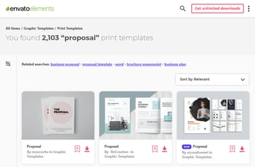 Elements Business Proposal Examples