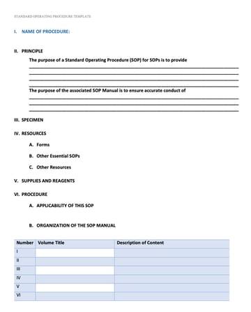 Standard Operating Procedure (SOP) Templates 01