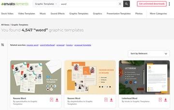 Envato Elements has hundreds of premium templates.