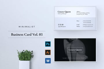 Minimalist Business Card to Use as Label