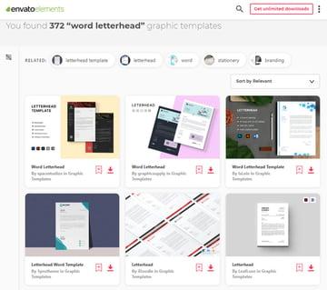 Letterhead templates on Envato Elements