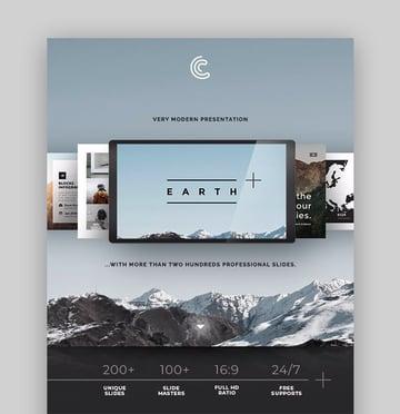Earth PowerPoint includes a calendar