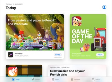 App Stores Today tab