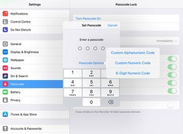 Set a passcode