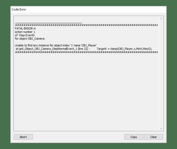 Error Message show on Player Death