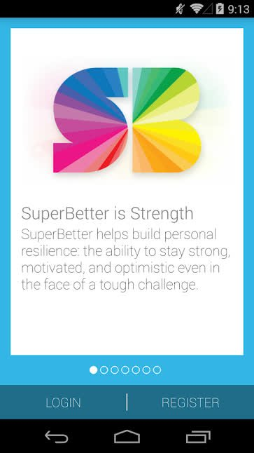 SuperBetter app homescreen