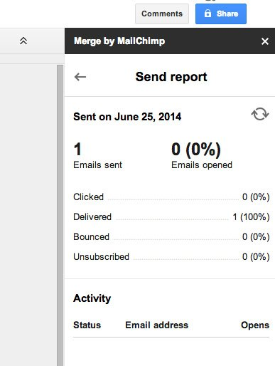 Track your email stats in Google Docs