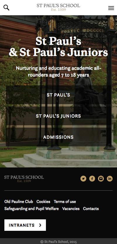 St Pauls School mobile