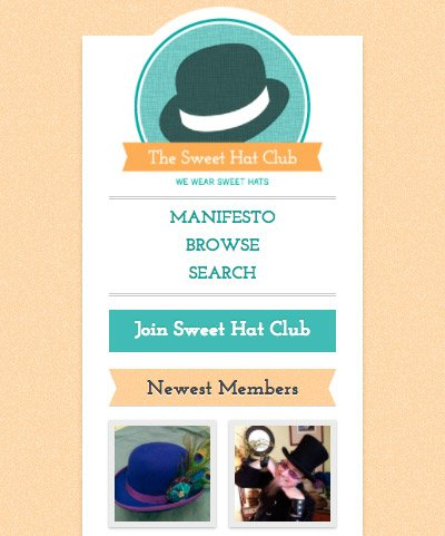 Sweet Hat Club mobile