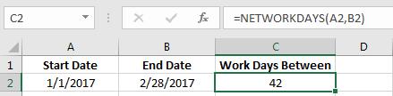 Net Work Days Example