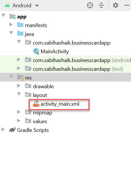 activitymain.xml Hierarchy