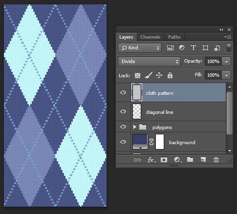 Tutorial Photoshop-Argyle Pattern