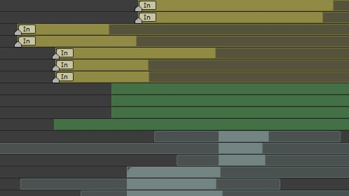 Organized layers in After Effects
