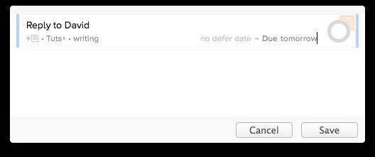 quickly add tasks
