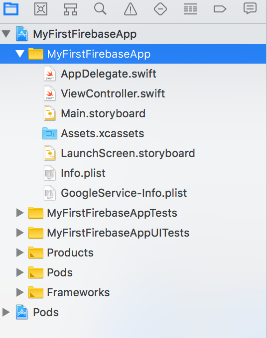 Xcode project with GoogleService-Infoplist