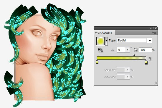 Use gradients to create highlights