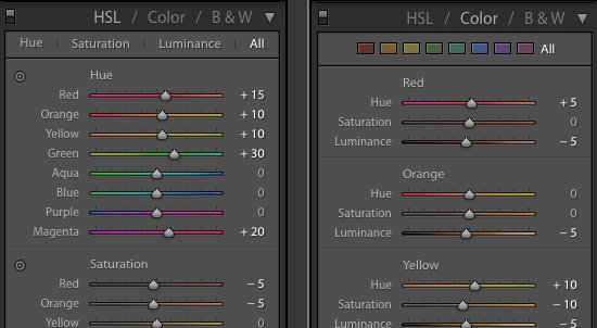 HSL and Color Sliders