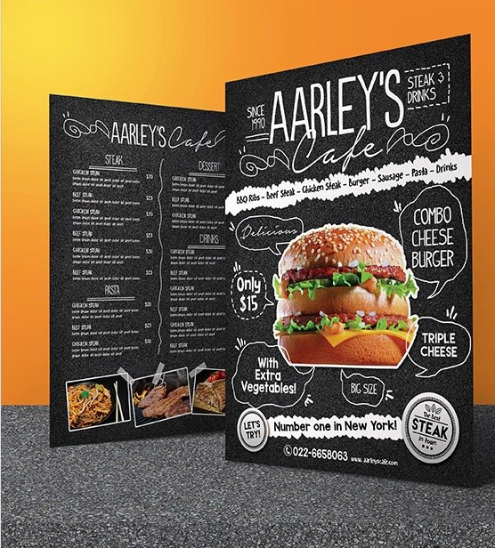 Asphalt Food Menu Flyer Template