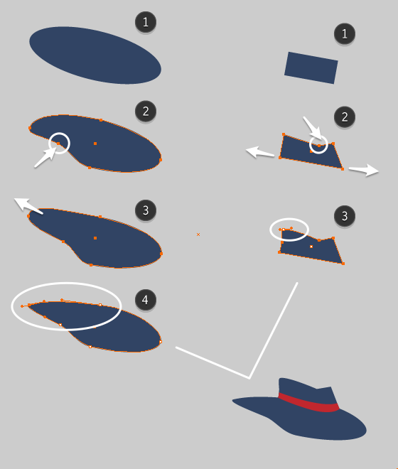 drawing hat with pen tool