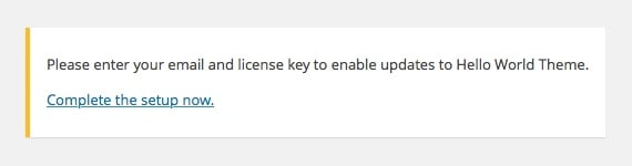 Reminder for updating the license settings