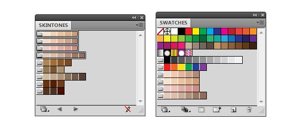 Adding palettes to the Swatches panel