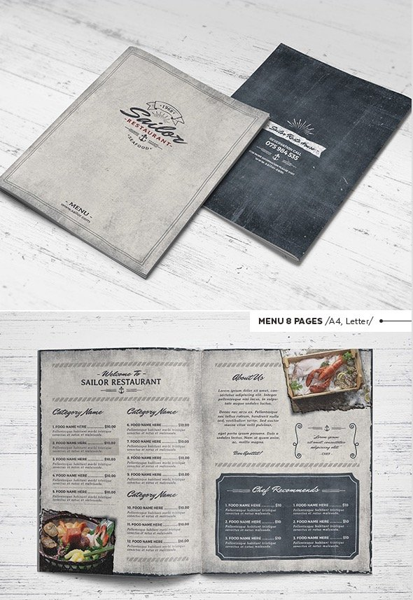 Sailor Restaurant Template Package