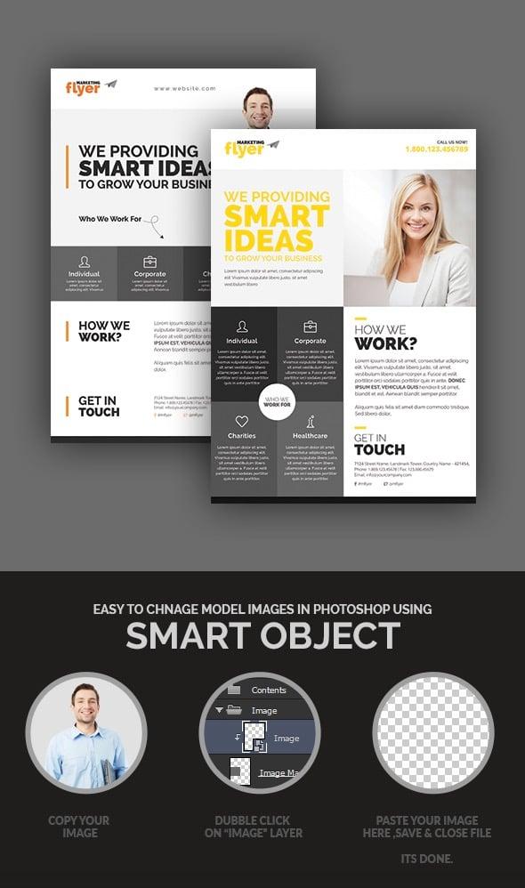 CorporateMarketing Flyer Design Set