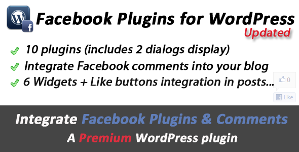 Facebook Plugins Comments  Dialogs for WordPress