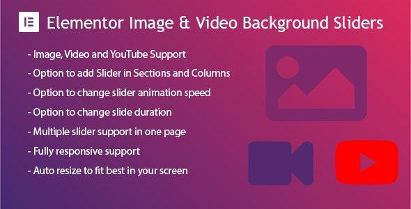 Elementor Background Image  Video Slider