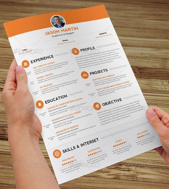 Clean skills-based functional resume template