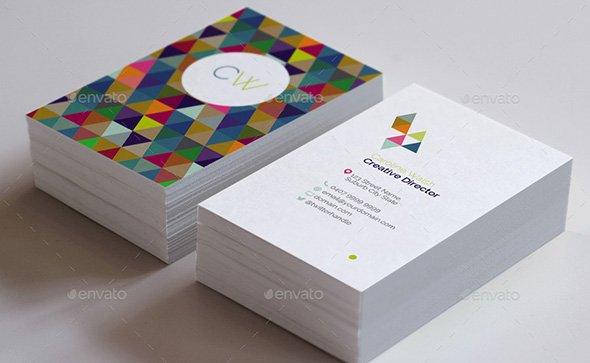 Double-Sided Geometric Pattern Business Card Template
