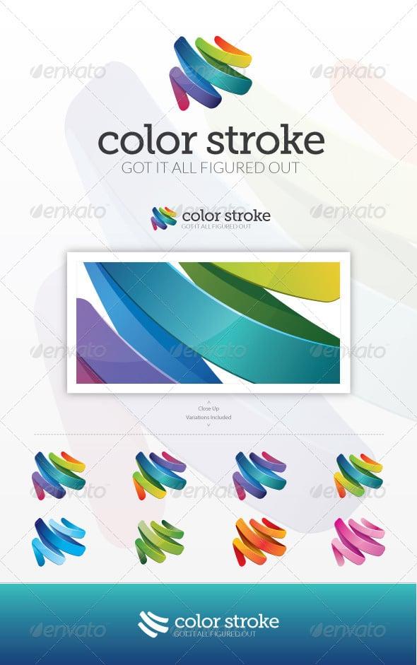 Color Stroke logo template